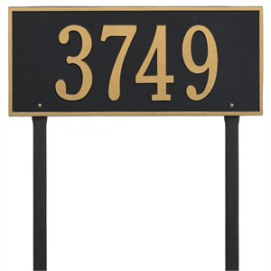 Personalized Hartford Large Lawn Address Plaque - 1 Line