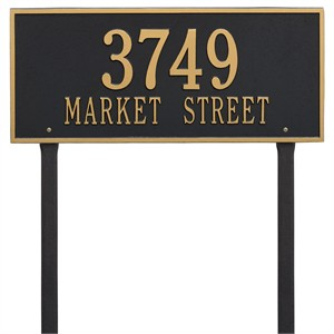 Personalized Hartford Large Lawn Address Plaque - 2 Line