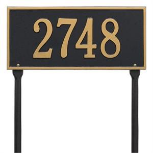 Personalized Hartford Lawn Address Plaque - 1 Line