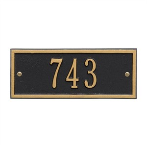 Personalized Hartford Small Address Plaque - 1 Line