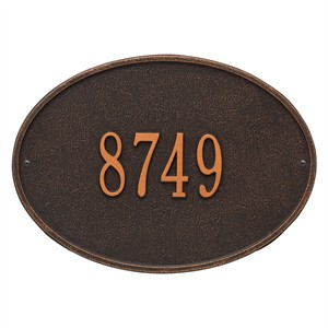 Personalized Hawthorne Address Plaque - 1 Line
