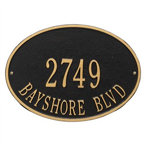 Personalized Hawthorne Address Plaque - 2 Line