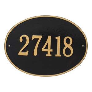 Personalized Hawthorne Large Address Plaque - 1 Line