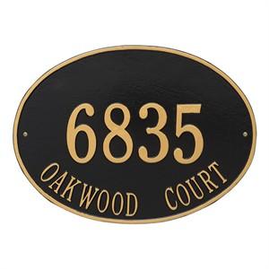 Personalized Hawthorne Large Address Plaque - 2 Line
