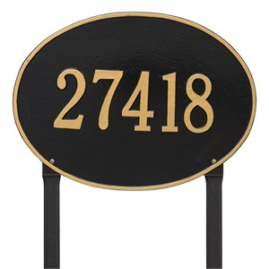 Personalized Hawthorne Large Lawn Address Plaque - 1 Line
