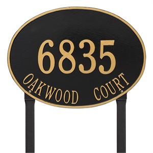 Personalized Hawthorne Large Lawn Address Plaque - 2 Line