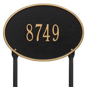 Personalized Hawthorne Lawn Address Plaque - 1 Line