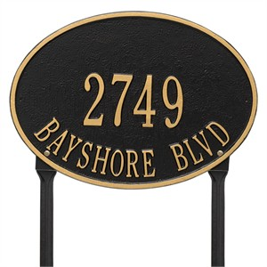 Personalized Hawthorne Lawn Address Plaque - 2 Line