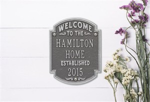 Personalized Heritage Welcome Plaque