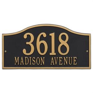 Personalized Hills Large Address Plaque - 2 Line