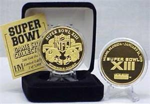 Highland Mint 24Kt Gold Super Bowl XIII Flip Coin