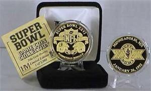 Highland Mint 24Kt Gold Super Bowl XXVI Flip Coin