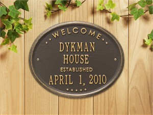 Personalized House Established Plaque