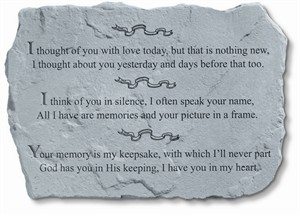 I thought of you with love today Memorial Stone