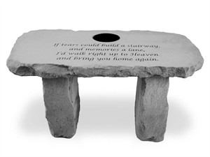If tears could…Personalized Bench