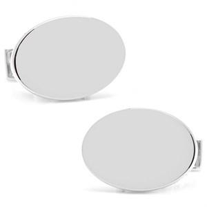Infinity Edge Oval Personalized Cufflinks