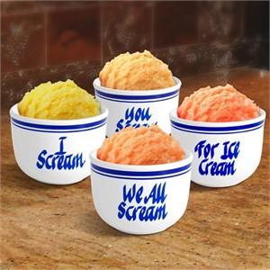 We're Screaming for Ice Cream 4pc. 20 oz. Bowl Set