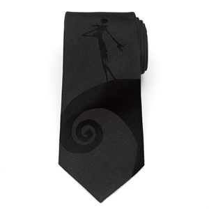 Jack Skellington Black Men's Tie