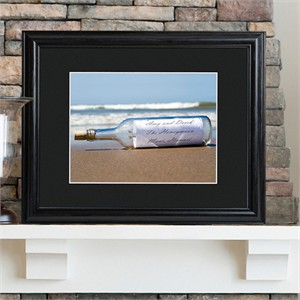 Personalized Message in a Bottle Print Frame