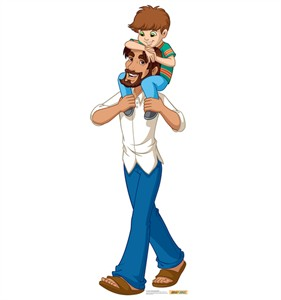 Jesus in Jeans with Child Creative for Kids Cardboard Cutout