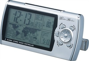 Pullman Global Radio Controlled Travel Alarm Clock