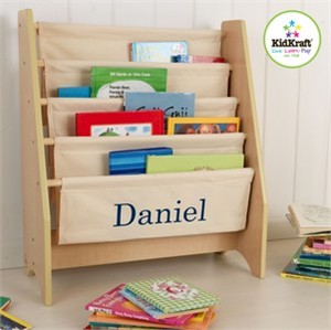 KidKraft Personalized Sling Bookshelf - Natural