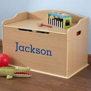 KidKraft Personalized Austin Toy Box - Natural