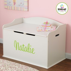 KidKraft Personalized Austin Toy Box - Vanilla