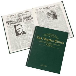 LA Times Decade Green Leatherette Book