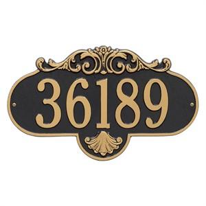 Personalized Large Rochelle Address Plaque - 1 Line