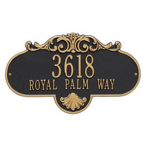 Personalized Large Rochelle Address Plaque - 2 Line