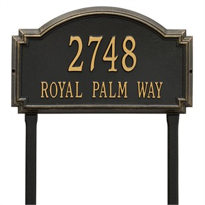 Personalized Large Williamsburg Lawn Address Plaque - 2 Line