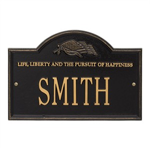 Personalized Life and Liberty Plaque