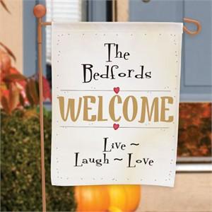 Live Laugh Love Garden Flag