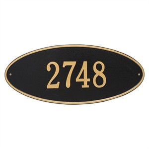 Personalized Madison Large Address Plaque - 1 Line
