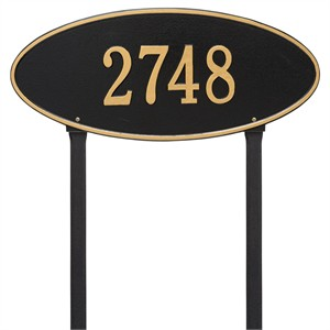 Personalized Madison Large Lawn Address Plaque - 1 Line