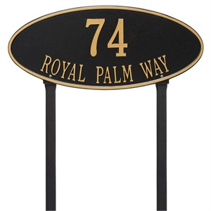 Personalized Madison Large Lawn Address Plaque - 2 Line
