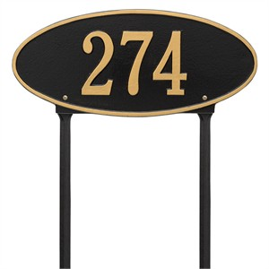 Personalized Madison Lawn Address Plaque - 1 Line