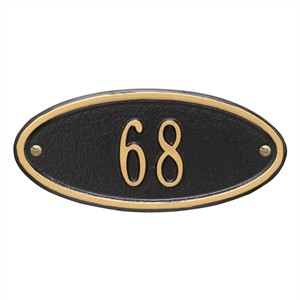Personalized Madison Small Address Plaque - 1 Line