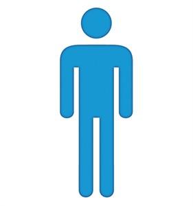 Man Symbol Cardboard Cutout