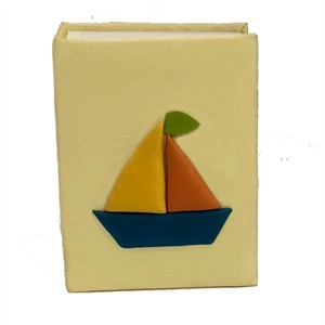 Sailboats Personalized Baby Photo Album - Small