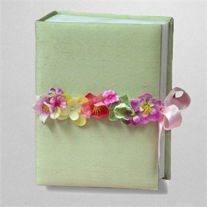 Flower Garland Personalized Baby Photo Album - Small