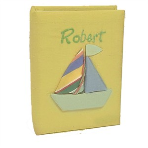 Sailboat Personalized Baby Photo Album - Small