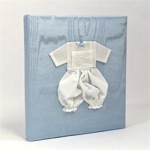 Blue Boy Personalized Baby Photo Album - Large - Ring Bound