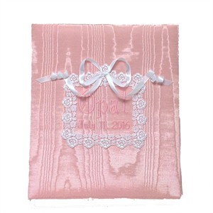 Venice Lace Personalized Baby Photo Album - Large - Ring Bound