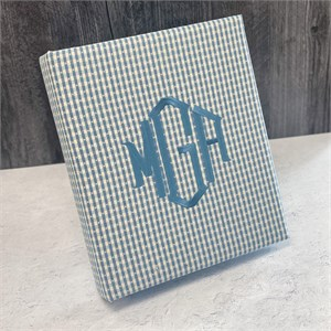 Gingham Check Personalized Baby Photo Album - Large - Ring