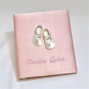 Baby Shoes Personalized Baby Photo Album - Large - Ring Bound