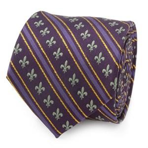 Mardi Gras Purple Stripe Men's Tie