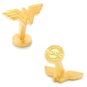 Matte Gold Wonder Woman Logo Cufflinks