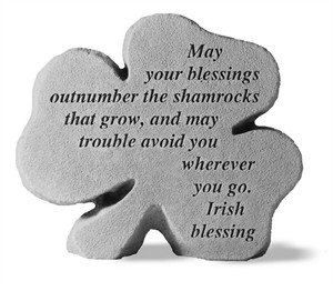 May your blessing…Shamrock Engraved Stone
